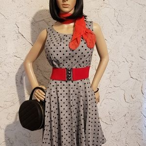 Elle Dresses - Dress, scarf & belt